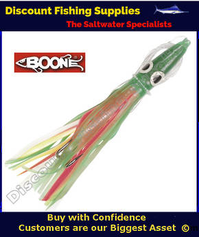 "Boone Tuna Eyes 6 1/2"" Rigged Lure - Zucchini"