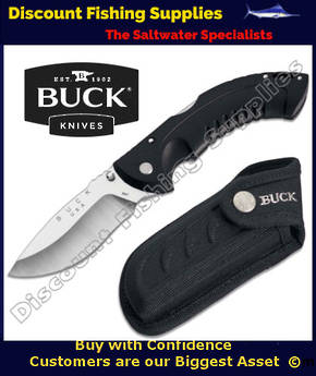 Buck 395 Folding Omni Hunter 10PT Knife with Sheath