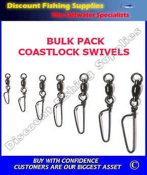 Bulk pack Coastlock Swivels #8
