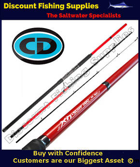 CD XD Surf Pro Rod - 14' - 3pc NEW 2020 Model - RED/Black