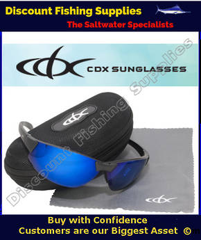 CDX Polarised Sunglasses Bi-Focal - BI-CYCLO BLACK - BLUE REVO +2 LENSE