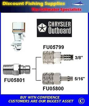 "Chrysler / Force Tank Outlet Male 1/4"" NPT Thread (FU05801)"