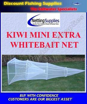 Kiwi Mini Extra - Whitebait Sock Net GREY MESH