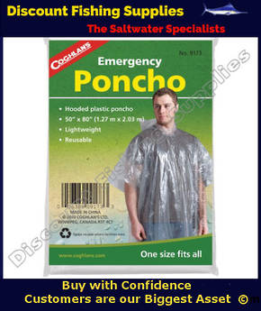 Coghlans Emergency Poncho - Clear