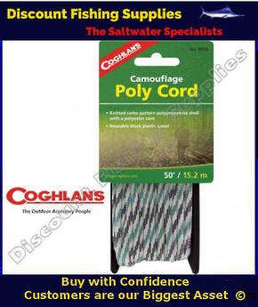 Coghlans Poly Cord 50' Camo