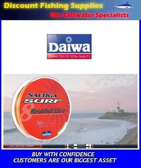 Daiwa Saltiga Surf Braided Line - 30lb X 300m