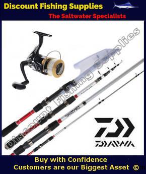 Daiwa Sweepfire 2500 / SPITFIRE 18T TELESCOPIC COMBO with line