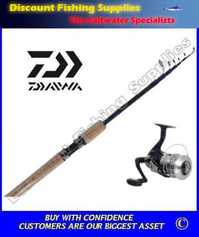 Daiwa SWEEPFIRE 2500X / SWEEPFIRE 18 TELESCOPIC COMBO with line