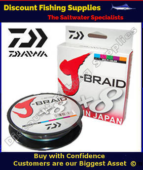 Daiwa X8 J Braid 50lb X 300m - Multi-Colour