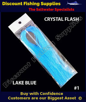 DFS Crystal Flasher Hair - Lake Blue