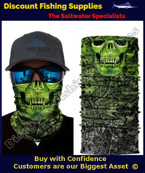 Face Shield - Green Camo Skull