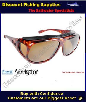 Navigator Tortoiseshell -  Amber Lens Polarized Sunglasses - FITOVERS