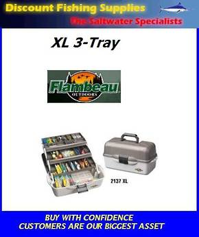 Flambeau XL 3 Tray Tackle Box 2137B