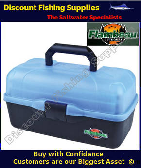 Flambeau 3 Tray Tackle Box Ice Blue 6183TF