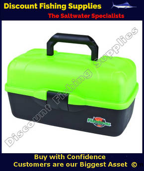 Flambeau 3 Tray Tackle Box Lime Green 6183TD