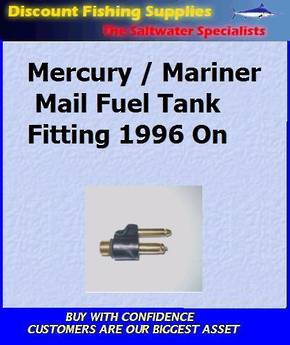 Mercury/Mariner 1996 On - Fuel Tank Fitting - Male (FU05837)