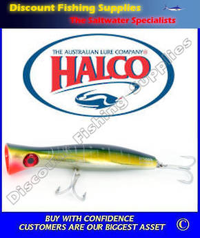Halco Roosta Popper HAYMAKER 195mm Yellowfin