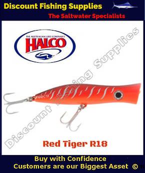 Halco Roosta Popper HAYMAKER 195mm Red Tiger