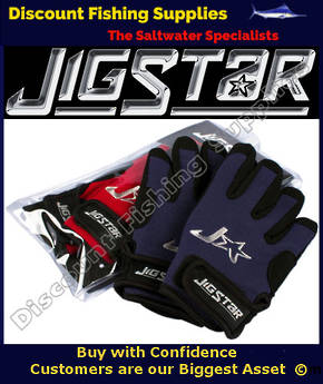 Jigstar Jigging Gloves BLUE - L