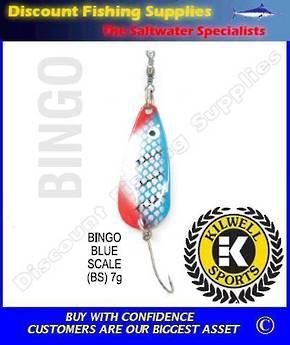 Kilwell Spinner - Bingo Blue Scale 7g (Bulk Pack 10)