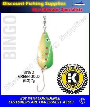 Kilwell Spinner - Bingo Green/Gold 7g