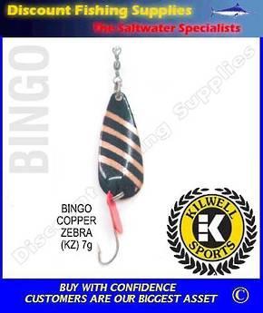 Kilwell Spinner - Bingo Copper Zebra 7g (Bulk Pack 10)