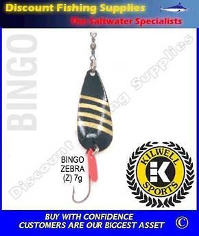 Kilwell Spinner - Bingo Zebra 7g (Bulk Pack 10)