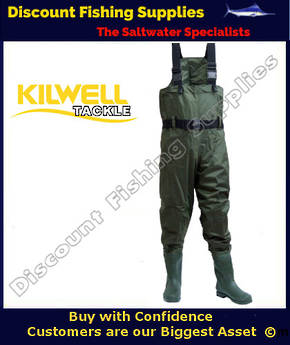 Kilwell Chest Wader - Olive - Cleat Sole Size 8