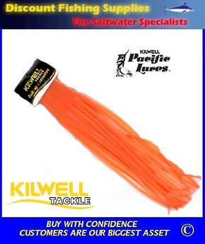 "Kilwell Pacific Lure Skirt - Orange 12"" No 7"
