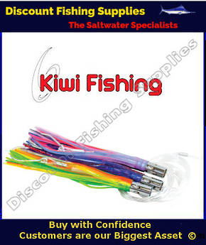 Kiwi Tuna Jet Lure Rigged - Pink - White - Blue