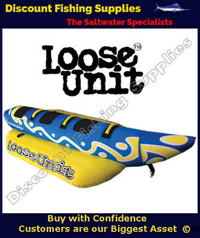Loose Unit Lake Snake - 3 Person Banana Ski Tube