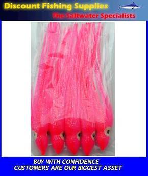 Lure Skirt 15CM Pink/White X 5