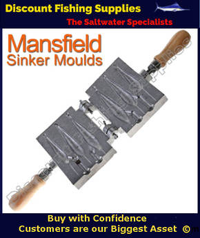 Mansfield Tournament Sinker Mould - 2 3 and 4oz (170)