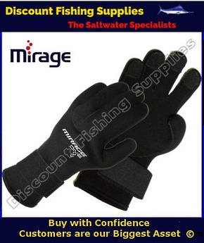 MIRAGE G09 KEVLAR LITE GLOVES 3MM - BLACK -  Dive Gloves