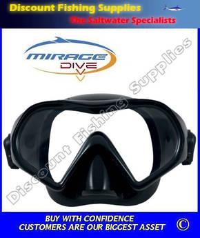 Mirage Super Nova Silicone Adult Dive Mask - Black