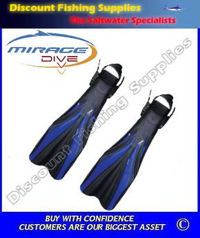Mirage Phantom Open Heel Fins Sml-Med