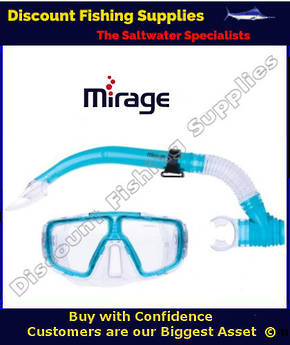 Mirage Tropic Adult Mask and Snorkel Set Blue