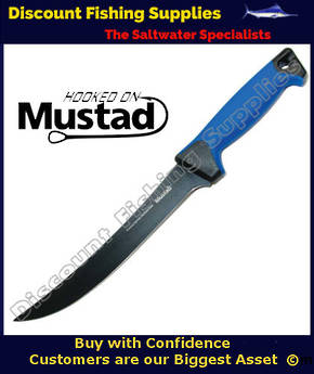 Mustad 10in Teflon Coated Boning Knife with Sheath