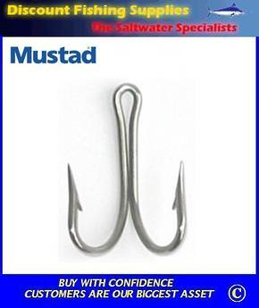 Mustad 7982 Double Hook Stainless Steel  4/0