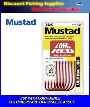 Mustad Long Red Hook