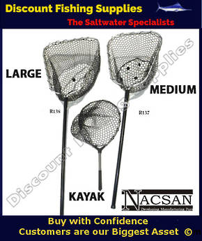 Nacsan Rubber Landing Net - Medium Deep