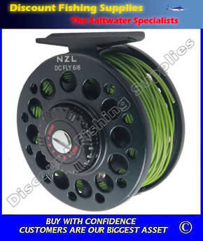 NZL Aluminium 6/8 Fly Reel Spooled with WF6F Line