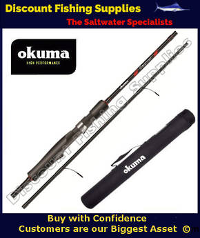 Okuma Ceymar Trout Spinning 4 Piece 6'6 1-5kg Rod with Tube