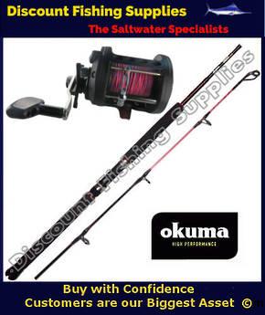 Okuma Classic 450CLX Trout Stik Trolling Combo With Leadline