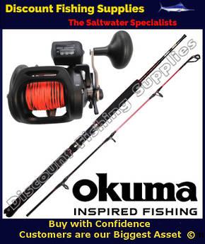 "Okuma Magda 45DT Trout Stik Trolling Combo With Leadline 5'6"""