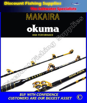 Okuma Makaira StandUp Game Rod 37kg - Fully Rollered