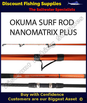 Okuma NanoMatrix Plus Surf Rod 14' 8-12kg 3pc Mad Dog
