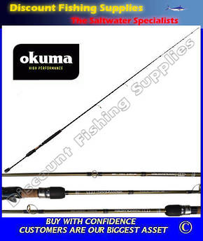 "Okuma NanoMatrix Dropshot Softbait Spin Rod 6'6"" 2pc 3-6kg"
