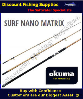 Okuma Nano Matrix Surf Rod 15' 8-12kg 3pc