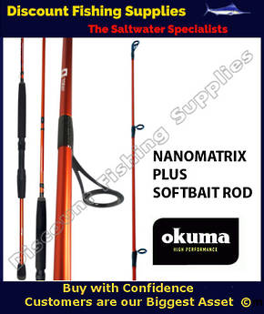 Okuma NanoMatrix PLUS Dropshot Softbait Spin Rod 7' 2pc 8-12kg